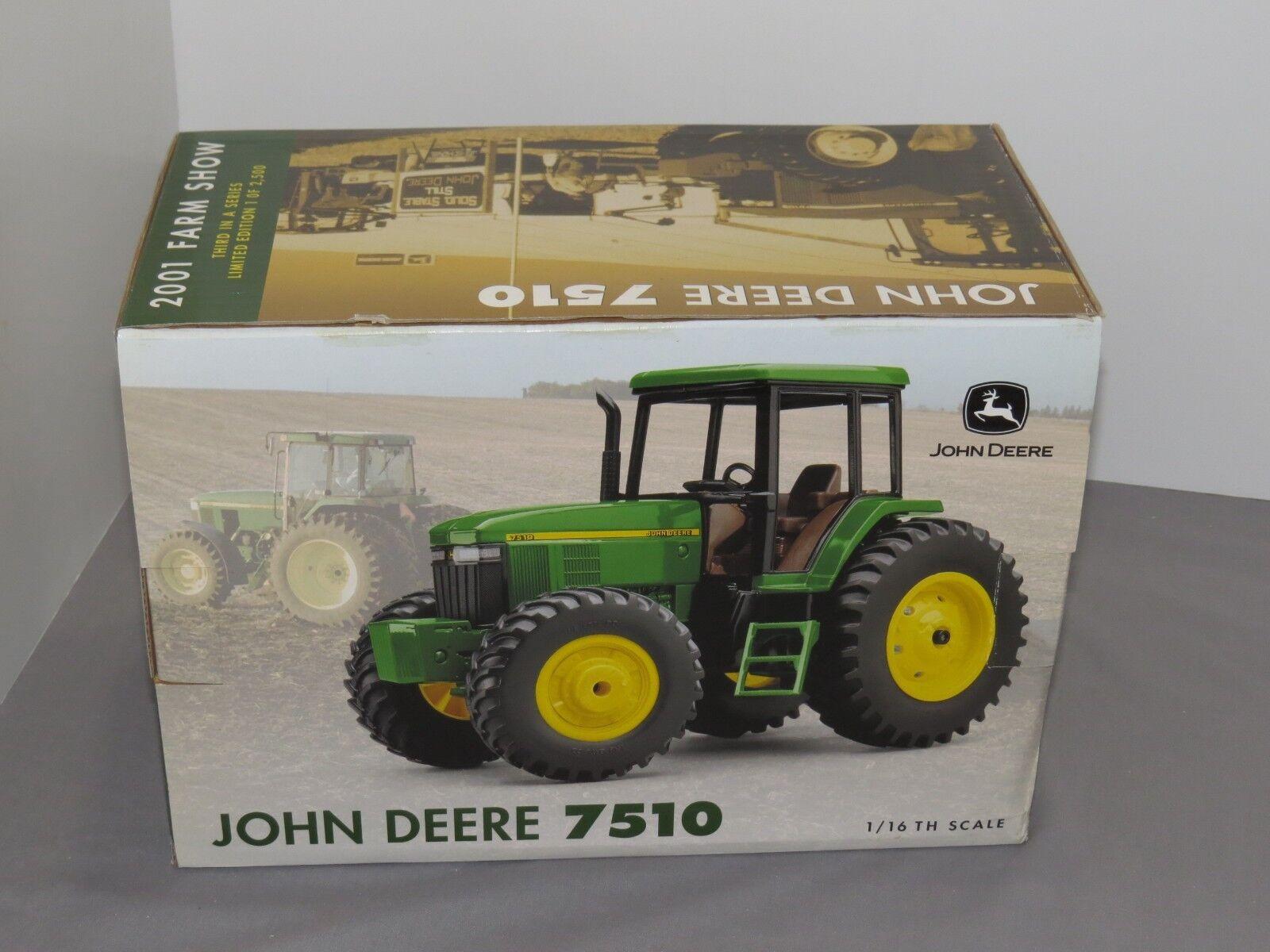Vintage John Deere 7510 Granja Show 1 16th Edición Limitada Raro Ertl Juguete Nuevo En Caja