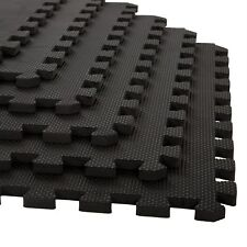 Stalwart Exercise Foam Flooring 24 x 24 Inch 6 Pc Garage Basement Mats