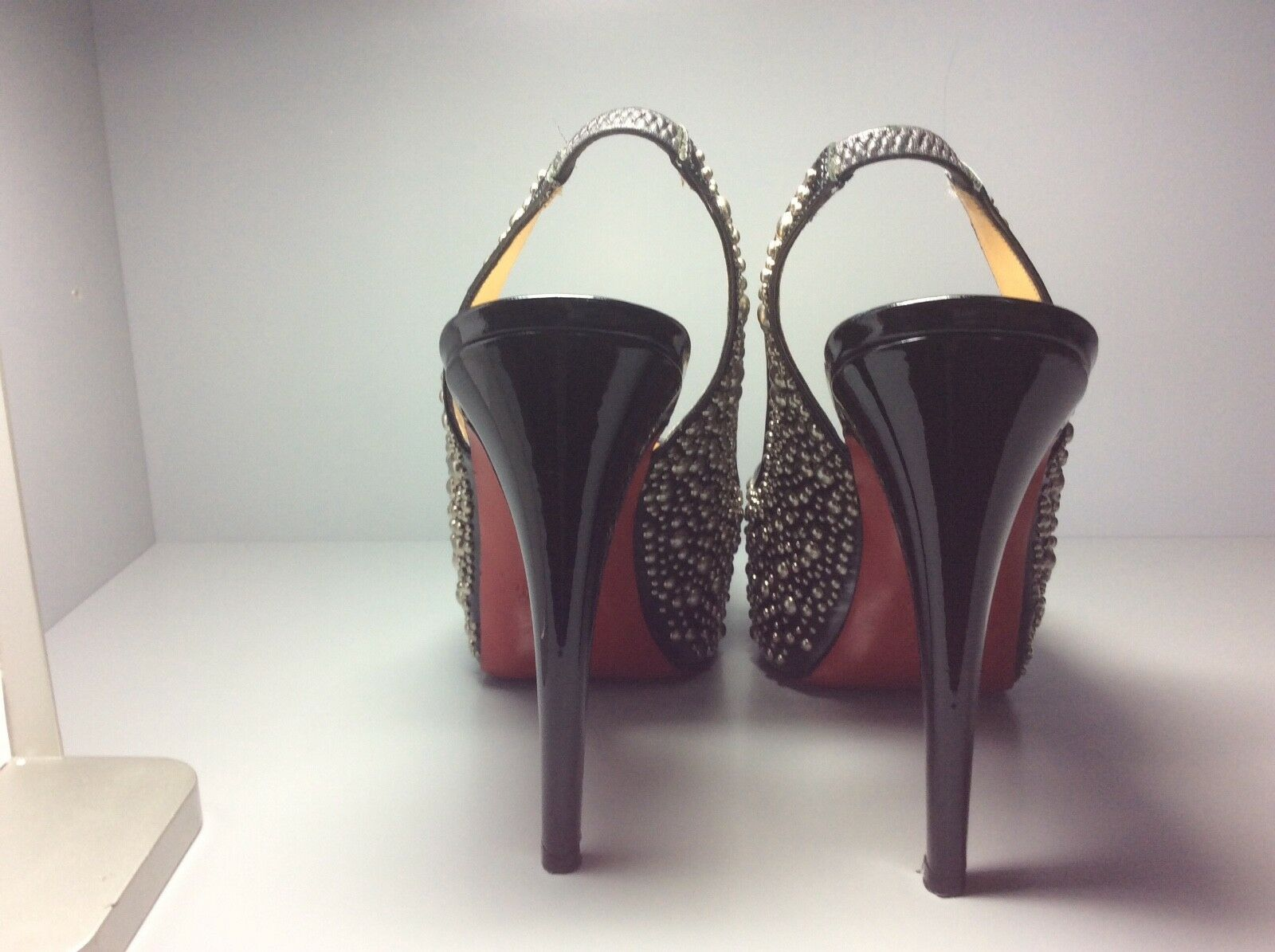 Women's black studded Christian Louboutin heels size 39 39 39 a6f69c