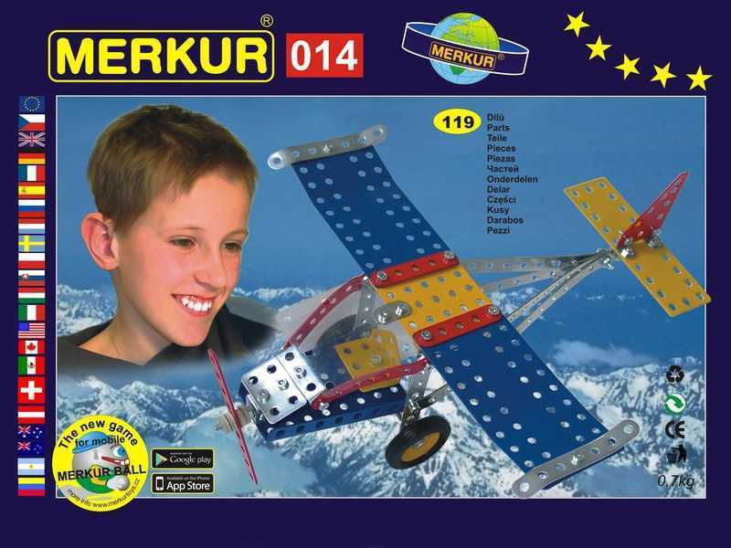 Metal construction set Merkur Aircraft, 0,8 kg, NEW, made in CZECH REPUBLIC