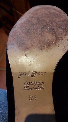 PAUL GREEN Wildlederschuh 5 1/2 Handarbeit schwarz