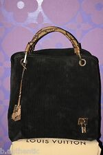 Louis Vuitton $4k+ Whisper GM Khol Embossed Monogram Suede Snakeskin *Limited*!!