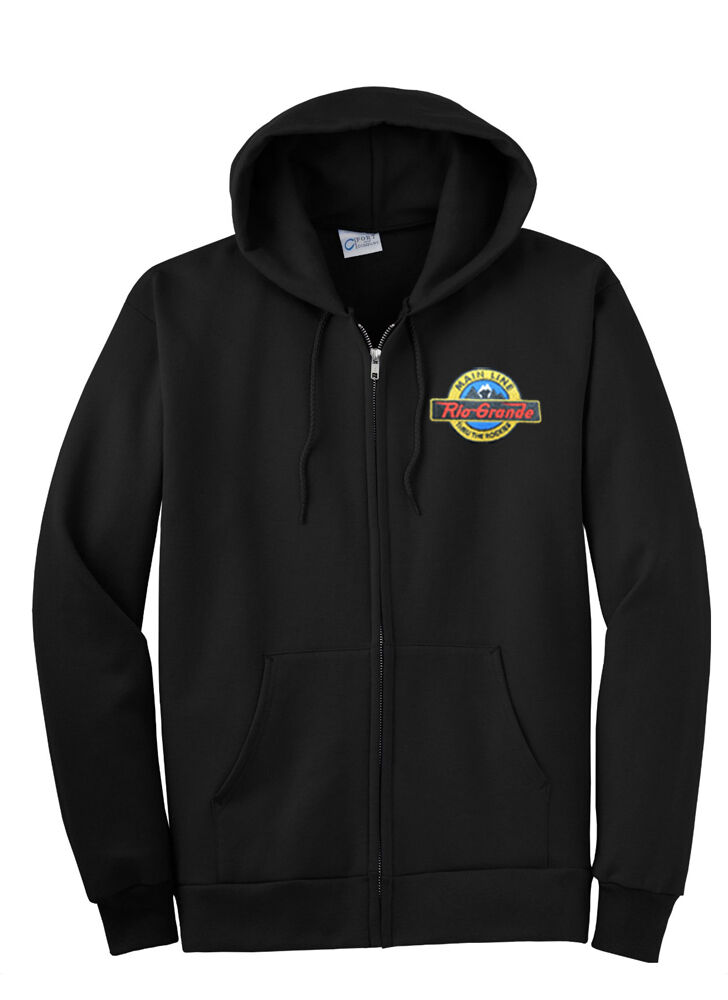 Denver and Rio Grande Main Line Zippered Hoodie Sweatshirt [12]