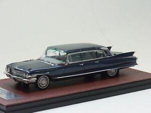 Cadillac Fleetwood 75 Limousine 1962 Bleu Métal Glm 121602 Résine 1/43 Résine