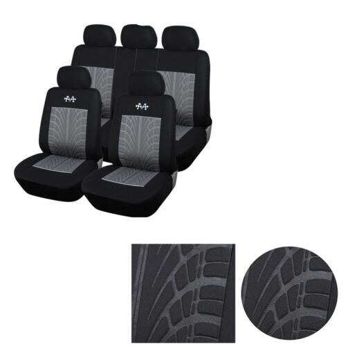 Car Seat Covers Full Set Front Rear Seat Cushion Mat Protector Headrest Covers