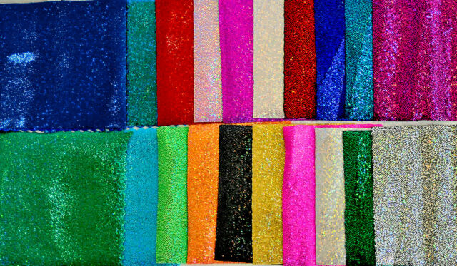 """MYSTIQUE SPANDEX SPARKLY JEWELS CHOICE OF COLOR STRETCH DANCE GYMNASTICS 58"""" BTY"""