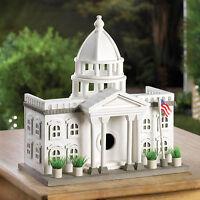 BIRDHOUSE: The WHITE HOUSE Presidential Manor Wood Bird House NEW