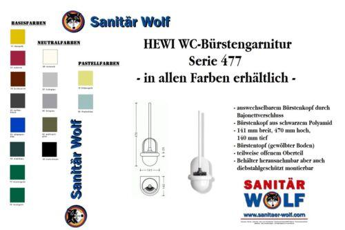 Hewi WC Bürstengarnitur Modell 477 Toilettenbürstengarnitur Farbe Stahlblau