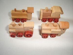 En-bois-moteurs-Trains-Miniatures-Set-1996-1-160-N-Kinder-Surprise-locomotives