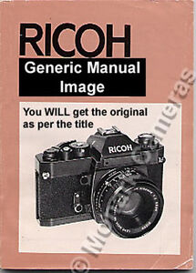Ricoh-KR-10-Manual-More-Camera-Instruction-Books-Listed