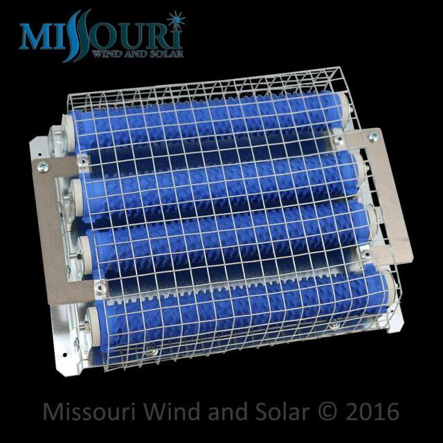 3 Dump divert load resistors 300 watt 2.9 ohm for 24 volt wind turbine DIY
