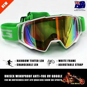 Dirt Bike Gear MX Motocross Moto X Goggles Anti-fog UV protection Tinted