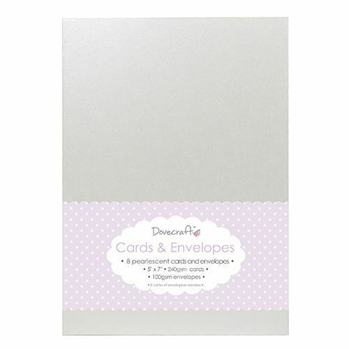 "Envelopes 8x Pearlescent 5/""x7/"" Quality Grade Kraft Card Blanks Dovecraft"