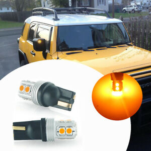 2x No Hyper Flash Amber Led Side Mirror Light Bulbs For 07