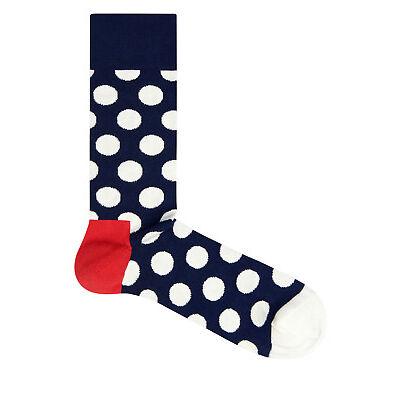 NEW Happy Socks Big Dot Sock Navy