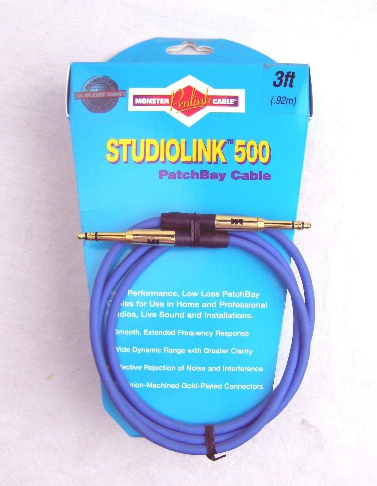 Monster StudioLink 500 TT Patchbay Cable Blue 3ft - | eBay