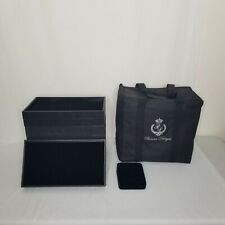 Premium Jewelry Travel Case With 8 Black Trays And 1 Ring Display Tray