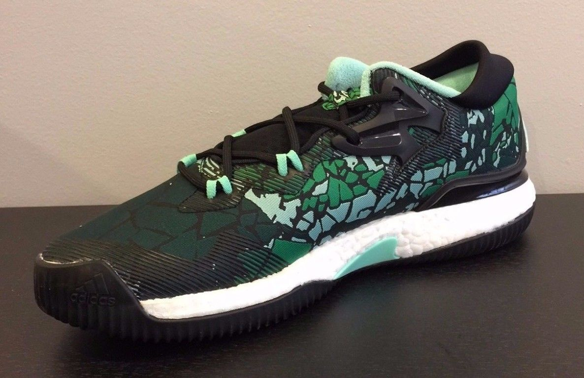 Mens Adidas Crazylight Boost Low 2018 Vets Day Basketball Shoes Green B42951 NEW