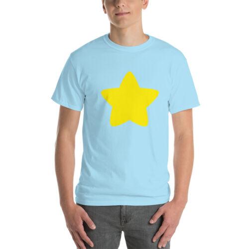 XL 2XL Steven Universe Blue Short-Sleeve T-Shirt w// Yellow Star- S M 3XL L