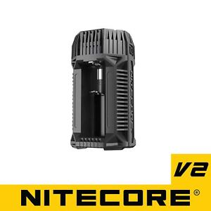 NITECORE-V2-6A-In-Car-Fast-Battery-Charger-18650-16340-14500-26650