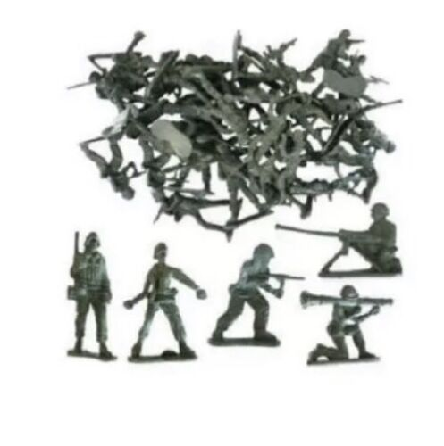 50x MINI TOY SOLDIERS SMALL MILITARY ARMY MEN FIGURES CHILDRENS LOOT//BAG FILLERS