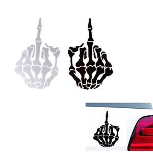 1PC-car-sticker-skull-middle-finger-design-DIY-reflective-auto-decal-stickers