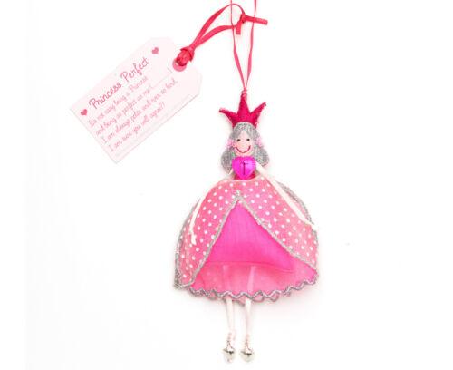 P * Gratuit P Commerce Équitable Fait Main pendaison Princesse Personnages-Choix de 3 Options