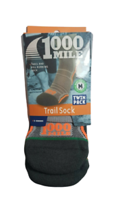 brand new in pack uk6-8.5 1000 Mile Trail Sock twin pack size M