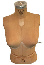 Vintage Wolf Tabletop Bra Mannequin Female Bust Size 34d From The 1970s