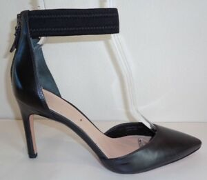 a762fdc94069 Via Spiga Size 7.5 M IFE Black Leather Dress Pumps Heels New Womens ...