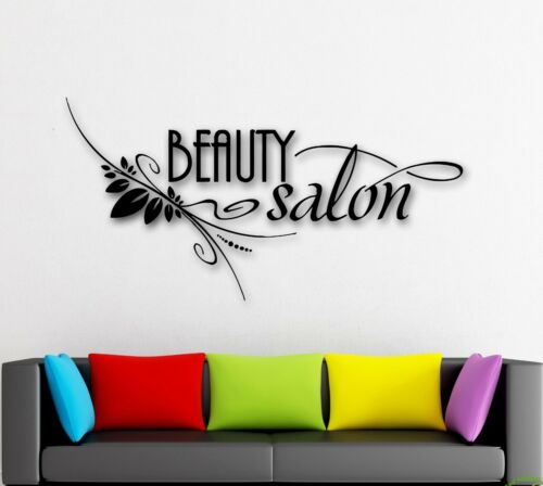 ig1398 Wall Stickers Vinyl Decal Beauty Salon Spa Barbershop Hair Stylist