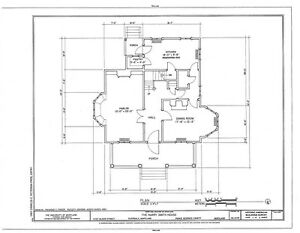 Victorian Queen Anne Style architectural home plans, tower ...