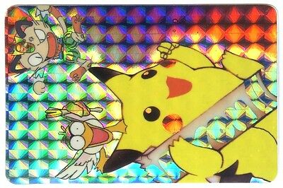 POKEMON BANDAI 1999 POCKET MONSTERS HOLO N° 93 PIKACHU + MIAOUSS MEOWTH