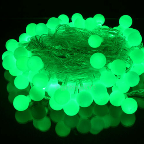 Battery operated berry ball shaped wreath led lights 20 40 leds static flash