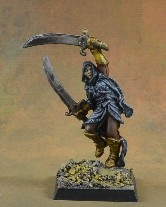 Pintado derviche Guerrero de Reaper Miniatures huesos D&D personaje femenino