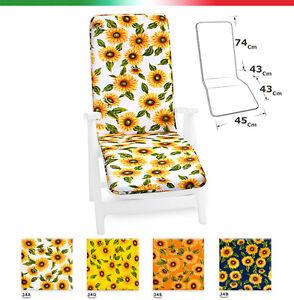 CUSCINO-SDRAIO-girasoli-schienale-copri-poltrona-sedia-LETTINO-mare-poggia-piedi