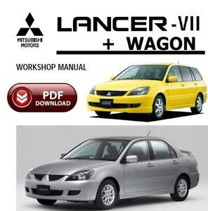 mitsubishi lancer vll lancer wagon workshop service manual full pdf rh ebay co uk 08 Mitsubishi Lancer 2009 Mitsubishi Lancer GTS