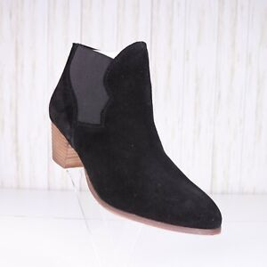 New Coolway Black Faux Suede Ankle Boots Women Size 9 M Pointed Toe