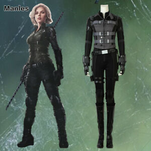 Details About Avengers 3 Infinity War Natasha Romanoff Cosplay Black Widow Sexy Costume Outfit