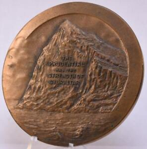 1925-Bronze-Medal-50th-Anniversary-Prudential-Insurance-Co-76mm-WHITEHEAD-amp-HOAG