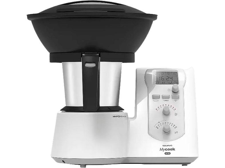 Robot de cocina Taurus Mycook One, vaporera, 2 L, 1.600W,Función sofreír, Blanco