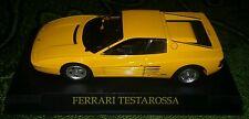 FERRARI TESTAROSSA GIALLA 1:43 - Modellino Figure Yellow Renault Chevrolet - NEW
