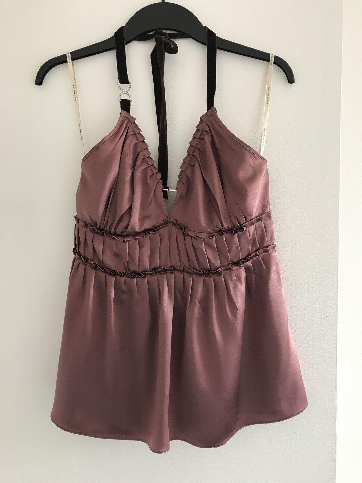 fedfeb58b61 BNWOT Karen Millen pink (Pink) 100% Silk Top-Size US 8, Ladies gold ...