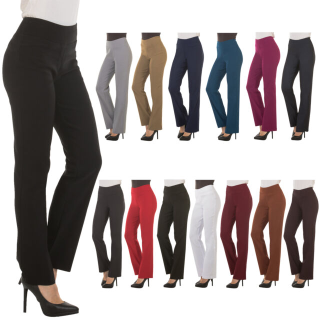 a5371d52 Bootcut Dress Pants for Women -Stretch Comfy Work Office Pull on Womens Pant