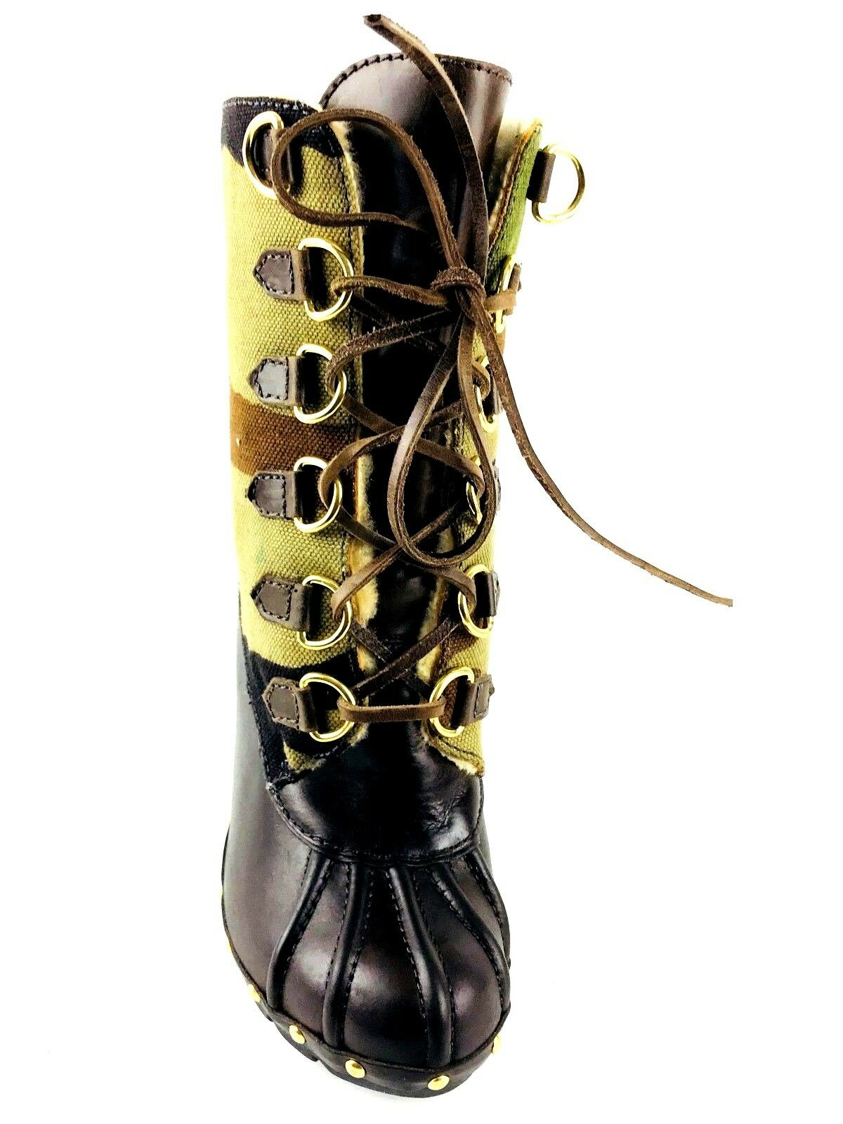 Michael Kors Studded Camouflage and leather Boot Size US.6 UK.4 EU.37