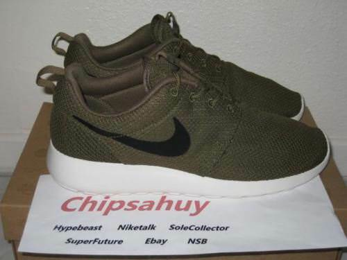 Nike Roshe Run One Iguana Mesh Green Sail Shoe OG New DS Size 10