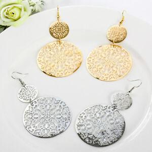 Women-18K-Gold-Plated-Round-Retro-Bohemian-Hollow-Dangle-Ear-Hook-Drop-Earrings