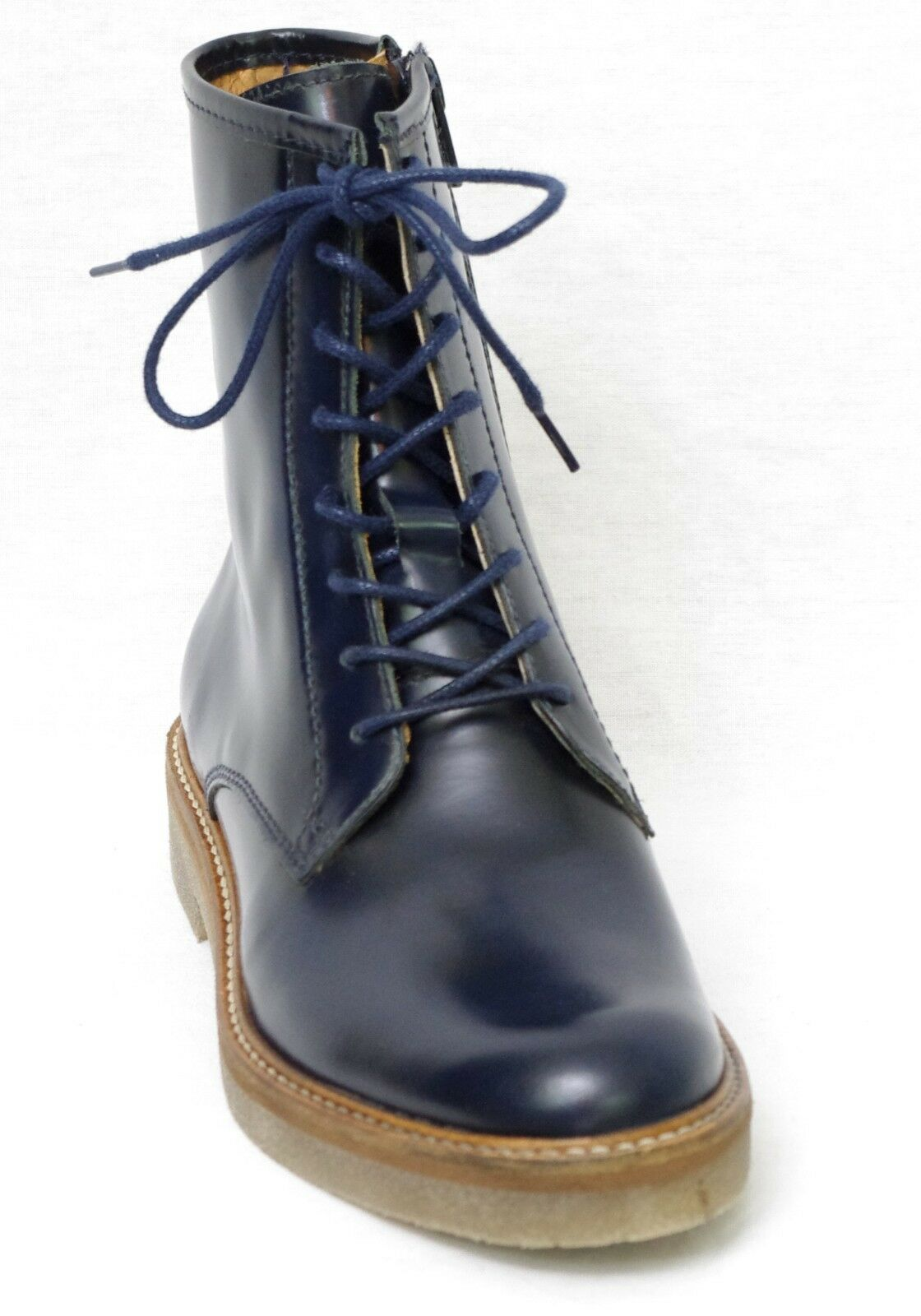 KICKERS OXFORDO Bottines Boots cuir bleu marine femme 512110 5 taille 37