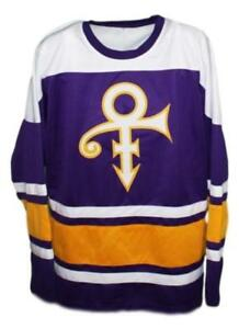 new concept bfcb9 e3214 Details about Prince The Musician Hockey Jersey New Purple Any Size