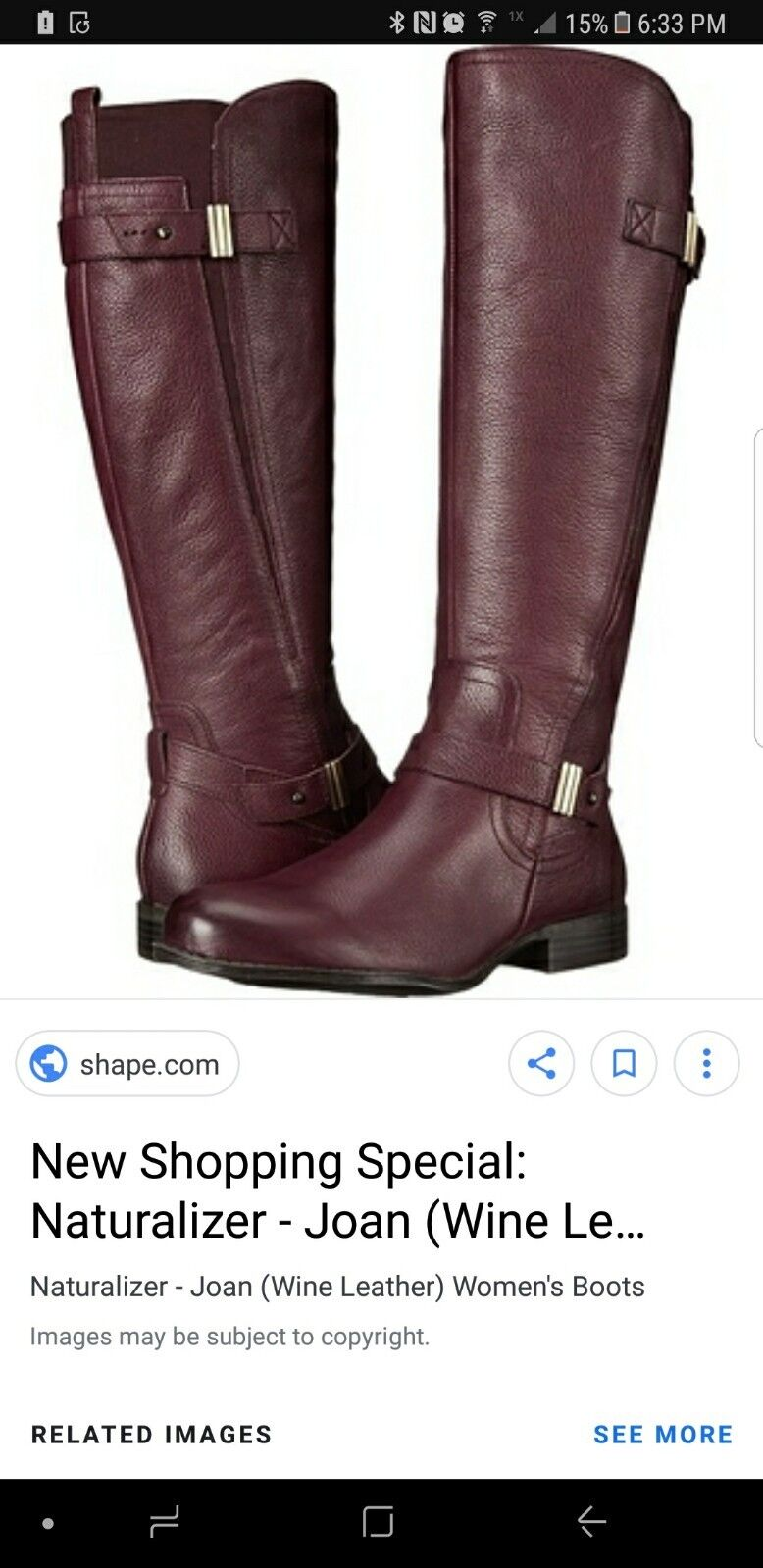 naturalizer Jean wine color boots 11